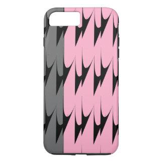iPhone gris rosado moderno del modelo de Chevron 7 Funda iPhone 7 Plus