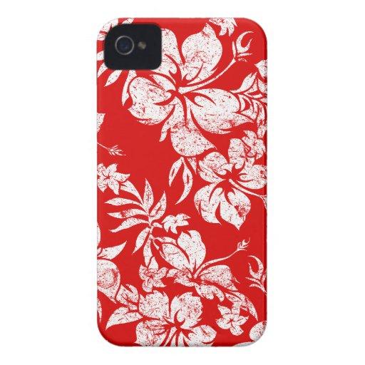iPhone hawaiano de Pareau del hibisco 4 casos Case-Mate iPhone 4 Cárcasas