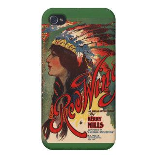 iPhone indio 4 del nativo americano del vintage de iPhone 4 Fundas