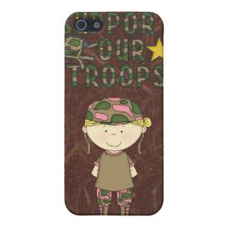 iPhone militar 4 de la caja de la mota de las trop iPhone 5 Funda