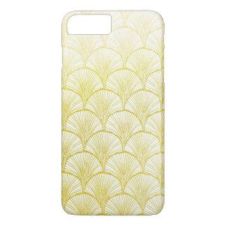 iPhone retro 7 de la fan del oro del art déco MÁS Funda iPhone 7 Plus
