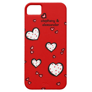 iPhone rojo 5 Barely There de los corazones Funda Para iPhone 5 Barely There