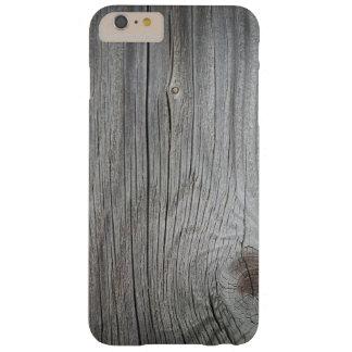 iPhone texturizado de madera 6/6s del vintage más Funda Barely There iPhone 6 Plus