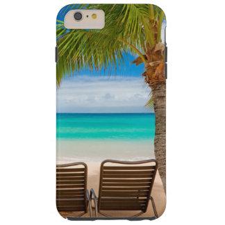 iPhone tropical 6/6s de las sillas de playa de los Funda Resistente iPhone 6 Plus