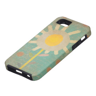 Iphone viejo de la caja de la flor de la turquesa funda para iPhone SE/5/5s