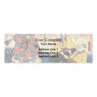 Ir de discotecas-ji de Utagawa Kunisada- Kyo-ganok Plantillas De Tarjetas De Visita