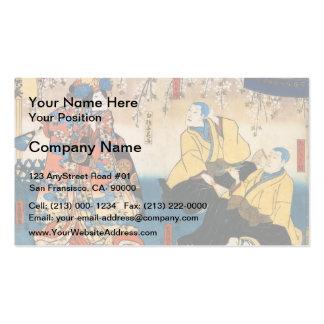 Ir de discotecas-ji de Utagawa Kunisada- Kyo-ganok Tarjetas De Visita