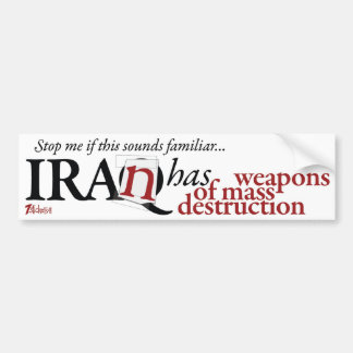 Irán tiene WMD Pegatina Para Coche