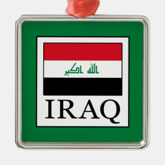 Iraq Adorno Navideño Cuadrado De Metal