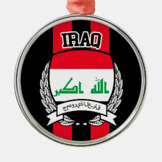 Iraq Adorno Navideño Redondo De Metal