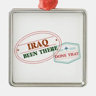 Iraq allí hecho eso adorno navideño cuadrado de metal