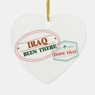 Iraq allí hecho eso adorno navideño de cerámica en forma de corazón