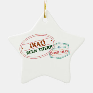 Iraq allí hecho eso adorno navideño de cerámica en forma de estrella