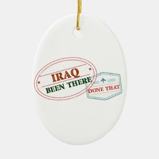Iraq allí hecho eso adorno navideño ovalado de cerámica