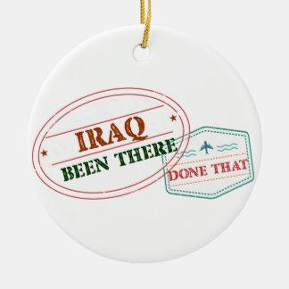 Iraq allí hecho eso adorno navideño redondo de cerámica