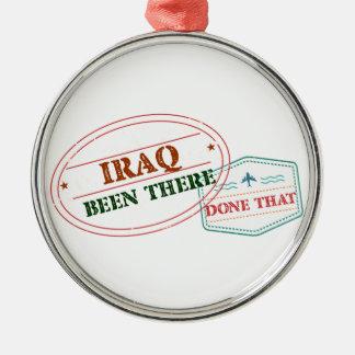 Iraq allí hecho eso adorno navideño redondo de metal