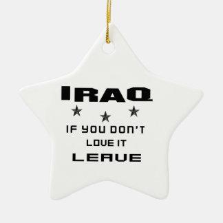 Iraq si usted no lo ama, se va adorno navideño de cerámica en forma de estrella