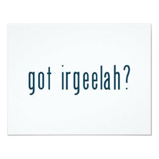 irgeelah conseguido invitación 10,8 x 13,9 cm
