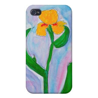 Iris amarillo iPhone 4 carcasas
