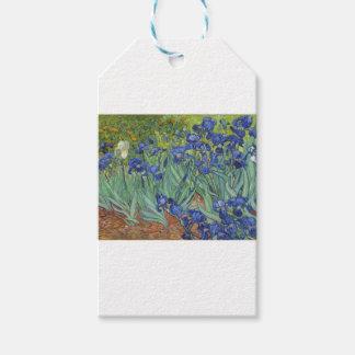 Iris azules etiquetas para regalos