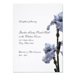 Iris de la tarjeta azul de la recepción invitación 11,4 x 15,8 cm
