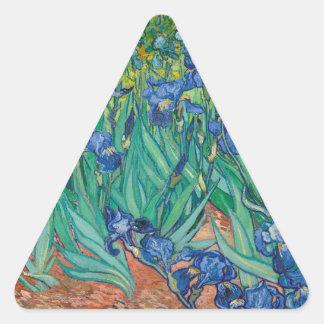 Iris de Vincent van Gogh Pegatinas Trianguloes