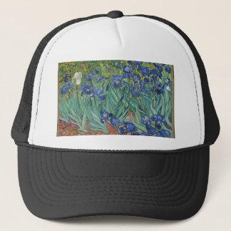 Iris de Vincent van Gogh que pintan el trabajo de Gorra De Camionero