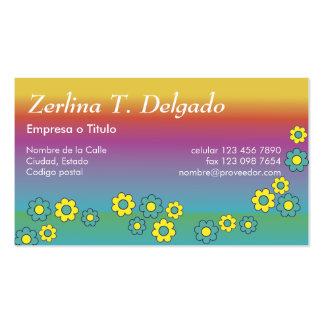 Iris de Zerlina de Flores Arco Tarjeta De Visita