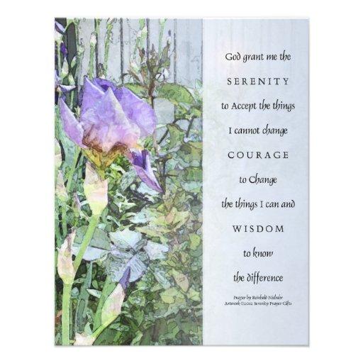 Iris del rezo de la serenidad e invitación de la c