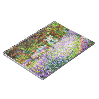 Iris en el jardín Claude Monet de Monet Libreta Espiral