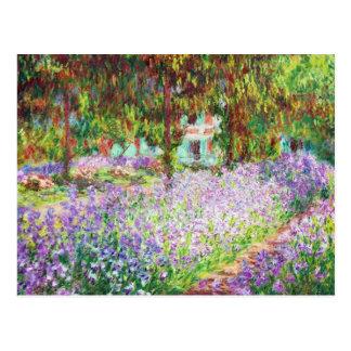 Iris en el jardín Claude Monet de Monet Postal