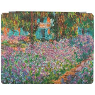 Iris en el jardín de Monets en Giverny de Claude Cubierta De iPad