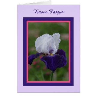 Iris Pascua feliz en italiano -- Buona Pasqua Tarjetas
