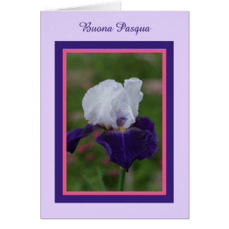 Iris Pascua feliz en italiano -- Buona Pasqua Tarjeta De Felicitación