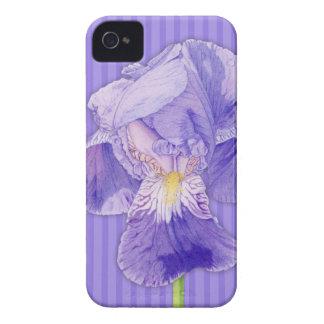 Iris púrpura Blackberry púrpura Barely There intré iPhone 4 Funda