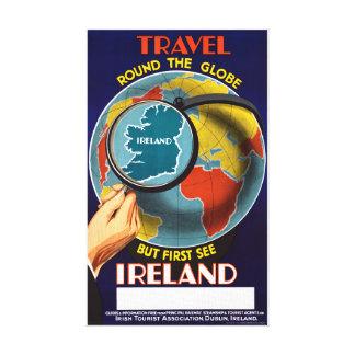 Irlanda restauró el poster del viaje del vintage lienzo