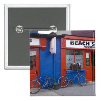 Irlanda, Strandhill. Escaparates con las bicicleta Pin