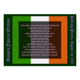 Irlanda Unfree nunca estará en la paz Tarjeta De Felicitación