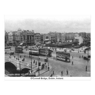 Irlanda vieja, puente de O'Connell de los años 30, Postal