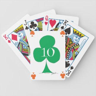 Irlandés afortunado 10 de los clubs, fernandes baraja de cartas bicycle