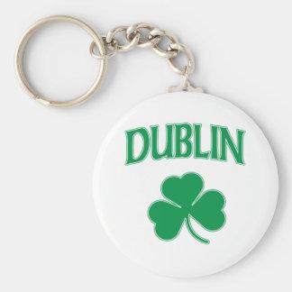 Irlandés de Dublín Llavero Redondo Tipo Chapa