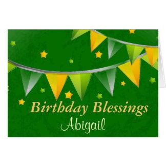 Irlandés de encargo personalizado de las tarjeta de felicitación
