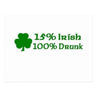 Irlandés del 15% el 100% borracho postal