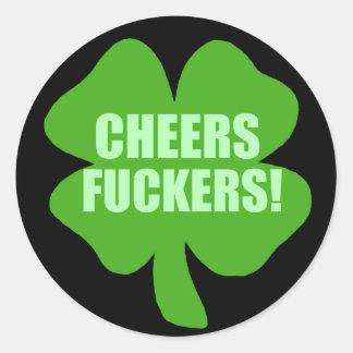 Irlandés divertido del día del St Patricks Pegatina Redonda