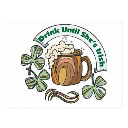 Irlandés era bebida borracha hasta que ella sea ir tarjetas postales