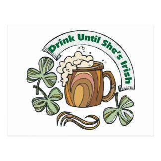 Irlandés era bebida borracha hasta que ella sea postal