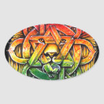 Iron Lion Zion - M1 Pegatina Ovalada
