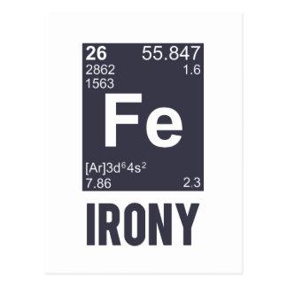 Ironía irónica del FE del elemento químico Postal