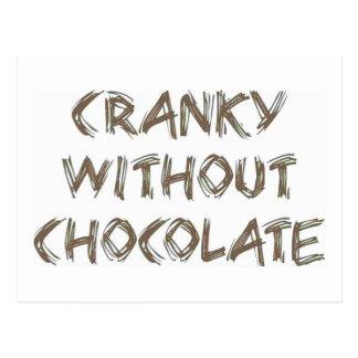 Irritable sin el chocolate postal