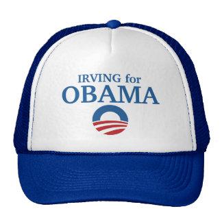 IRVING para el personalizado de Obama su ciudad pe Gorros